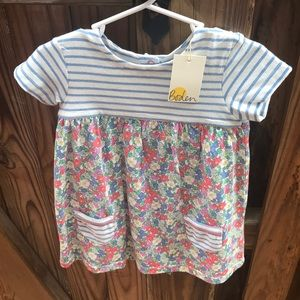 NWT baby Boden floral dress and diaper cover